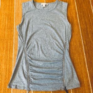 Michael Michael Kors Sleeveless Top with Zippers
